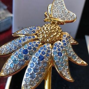 Authentic Swarovski Mother's Flower Brooch Pin